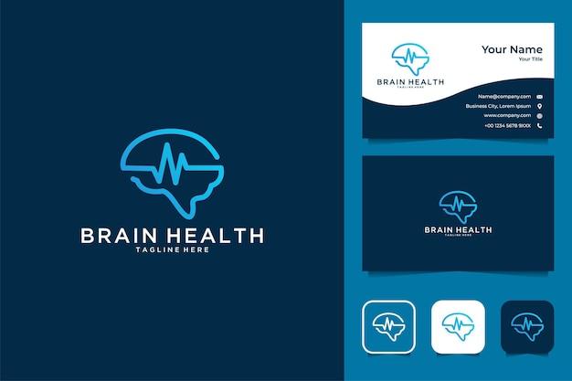 Design del logo di salute del cervello e biglietto da visita