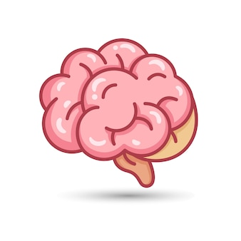Modello di progettazione del logo del cervello