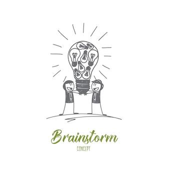 Illustrazione di concetto di brainstorming