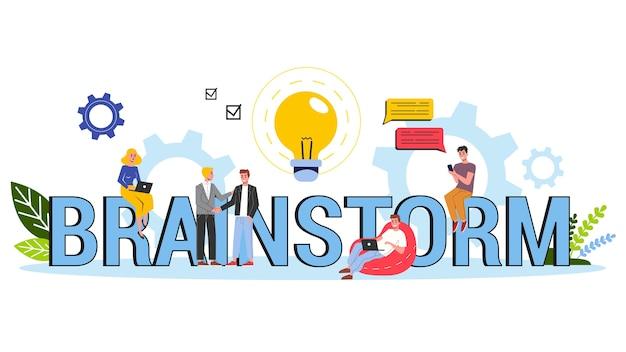 Brainstorm e concetto di mente creativa. genera nuova idea