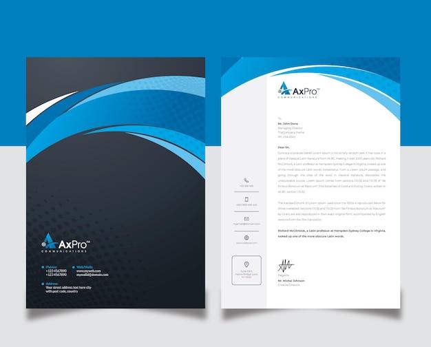 Carta intestata creativa di marca