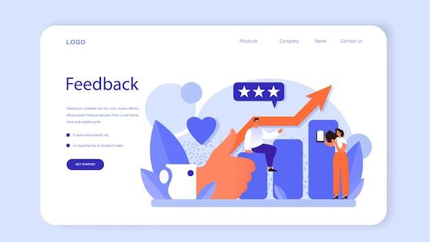 Banner web di gestione del marchio o design unico della pagina di destinazione