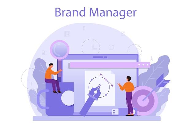 Illustrazione di concetto di brand manager
