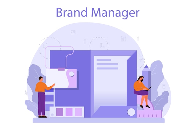 Concetto di brand manager.