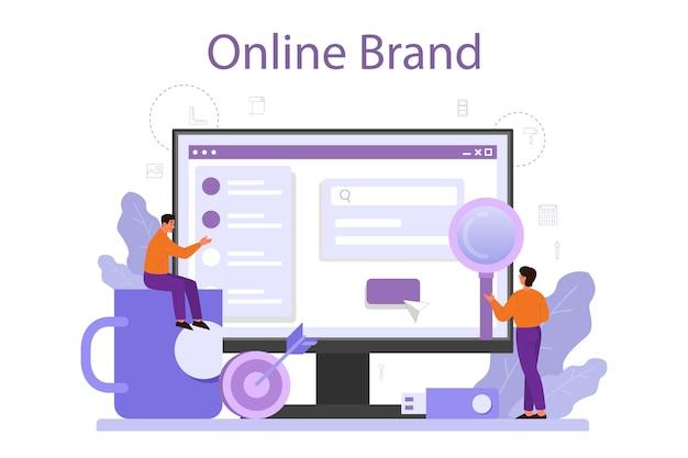 Piattaforma o servizio online di brand manager
