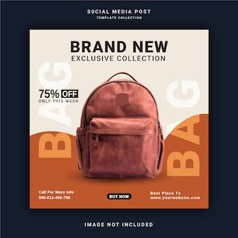 Borse per la scuola nuove di zecca collezione esclusiva instagram post banner modello di post sui social media