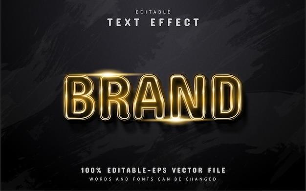 Testo del marchio, effetto di testo in stile oro