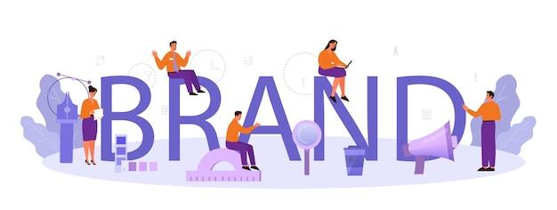 Illustrazione tipografica di marca.