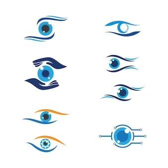 Branding identity corporate eye care disegno vettoriale