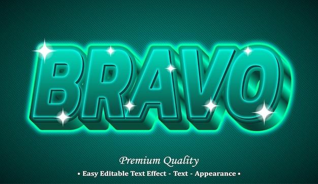 Bravo 3d effetto di stile di testo modificabile