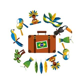 Design del paese brasiliano