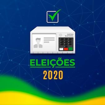 Illustrazione delle elezioni in brasile 2020