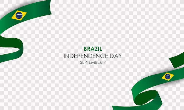 Giorno dell'indipendenza del brasile 7 settembre vettore realistico con palloncini e bandiera brasile
