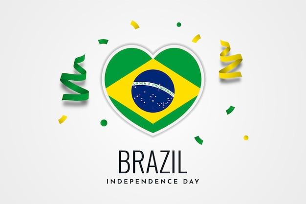 Disegno del modello dell'illustrazione della celebrazione del giorno dell'indipendenza del brasile