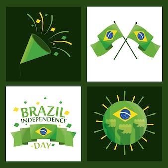 Set per il giorno dell'indipendenza del brasile