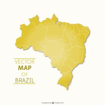 Brasile mappa vettoriale