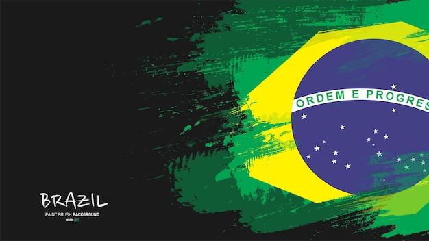 Il brasile ha dipinto lo sfondo della bandiera