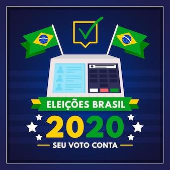 Illustrazione di elezioni di voto in brasile
