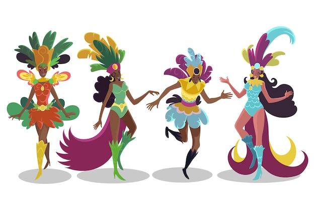 Set ballerino di carnevale brasiliano