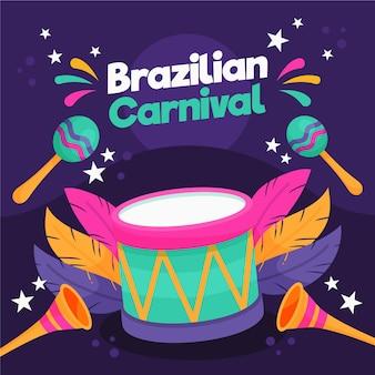 Disegnato a mano di carnevale brasiliano