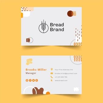 Modello di biglietto da visita di pane