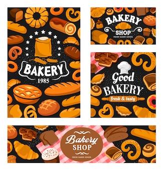 Banner di pane e dolci