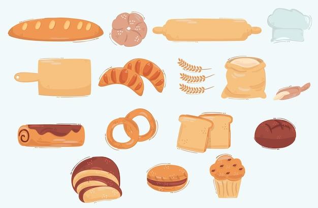 Icona di pane illustrazione