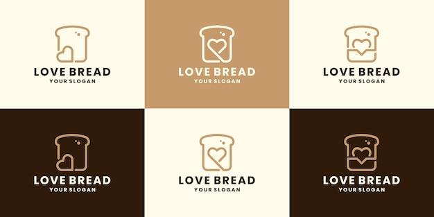 Design del logo degli amanti del pane per il cibo del ristorante
