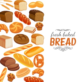 Pagina del modello di prodotti di pane