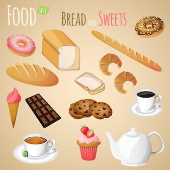 Set di pane e dolci