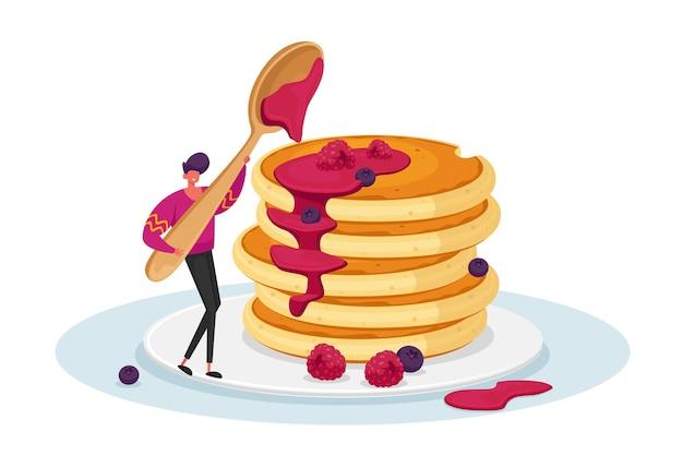 Colazione, cibo mattutino, concetto di hobby culinario