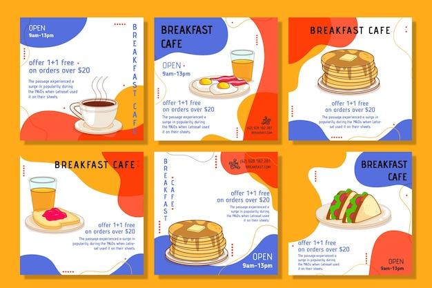 Post di instagram del ristorante per la colazione