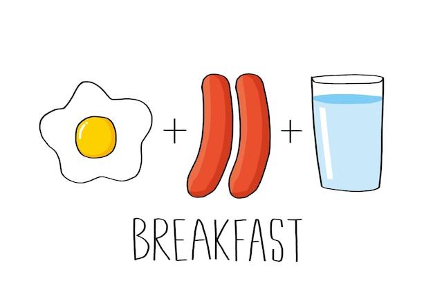 Illustrazione vettoriale set colazione