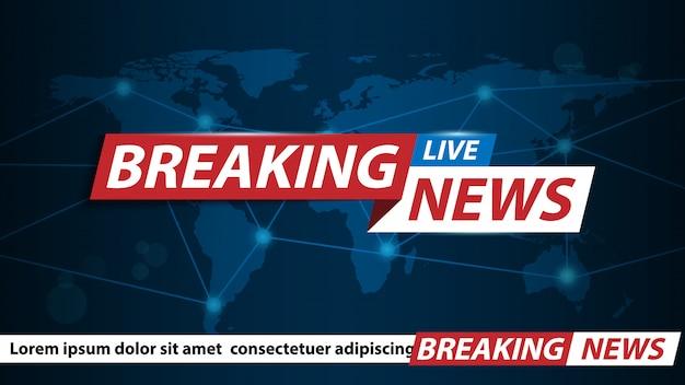Sfondo di ultime notizie, screensaver di notizie sui canali tv