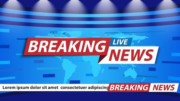 Sfondo delle ultime notizie salvaschermo di notizie del canale televisivo