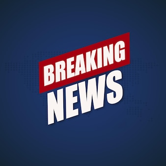 Sfondo di ultime notizie, design di banner di notizie tv mondiali
