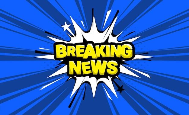 Ultime notizie. fumetto di fumetti su sfondo blu. vettore