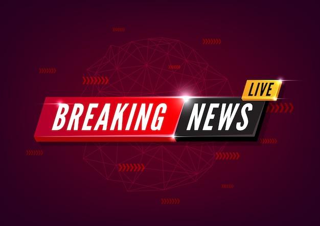 Ultime notizie in diretta su sfondo rosso.