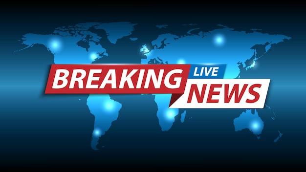 Ultime notizie, salvaschermo di notizie di canali tv