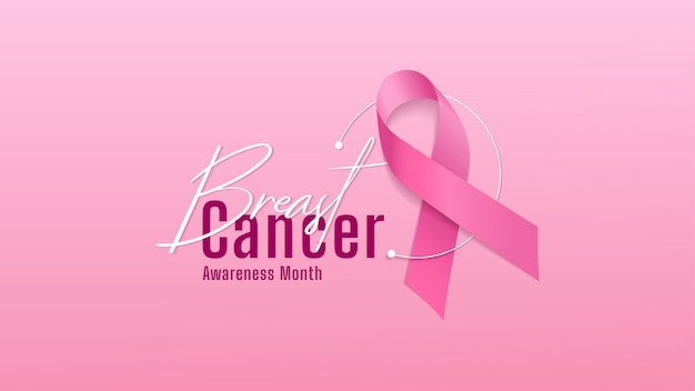 Banner di consapevolezza del cancro al seno.