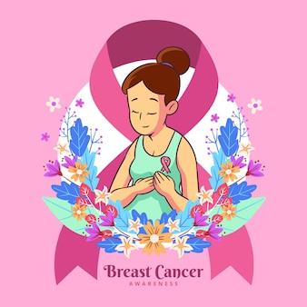 Illustrazione di consapevolezza del cancro al seno