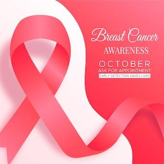 Sfondo del mese di consapevolezza del cancro al seno