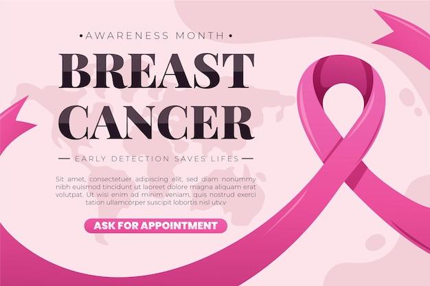 Modello di banner mese di consapevolezza del cancro al seno