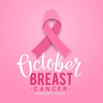 Iscrizione del mese di consapevolezza del cancro al seno