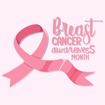 Logo del mese di consapevolezza del cancro al seno