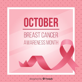 Fondo rosa di mese di consapevolezza del cancro al seno