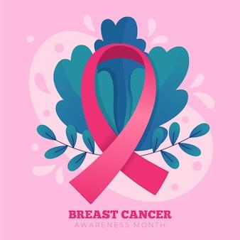 Nastro del mese di consapevolezza del cancro al seno