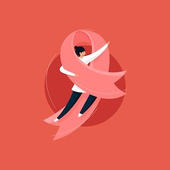 Consapevolezza del cancro al seno e concetto della giornata della donna