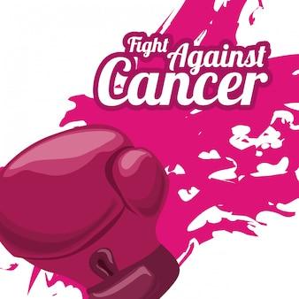Progettazione del cancro al seno, illustrazione vettoriale.