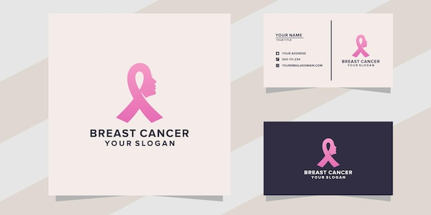 Modello di logo del cancro al seno in stile moderno